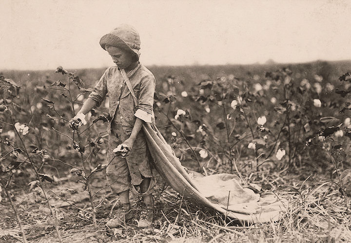 Girl Sowing Old Fashioned