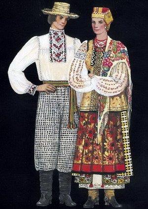 Одежда украинцев в старину.