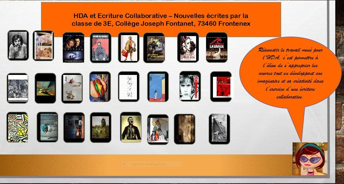 Ecriture Collaborative avec un Pad et Histoire des Arts