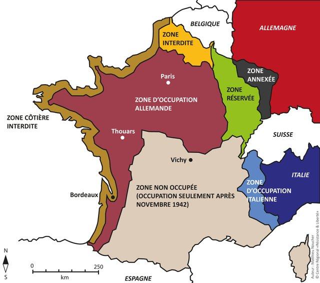 Carte Occupation Allemagne 1945.Centre Regional Resistance Liberte Ressources