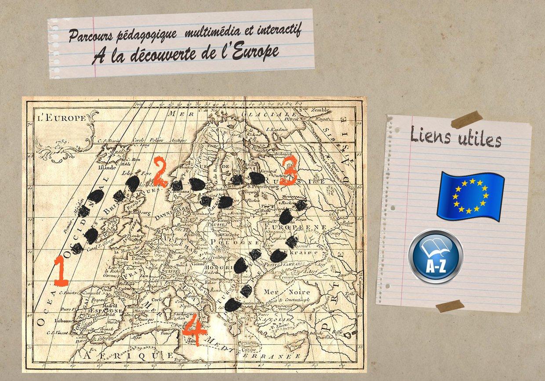 La découverte de l'Europe - Parcours pédagogique interactif