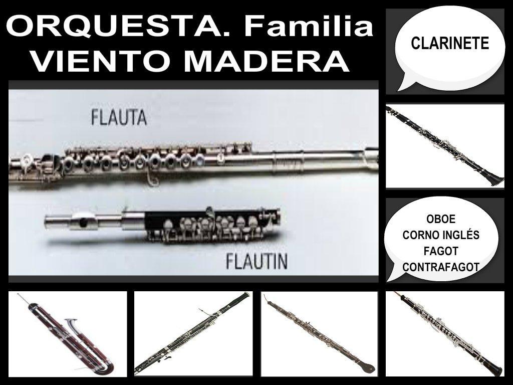 Orquesta. Familia Viento Madera. Vídeos