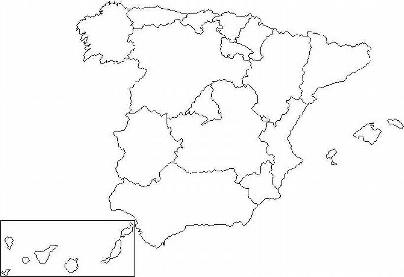 Mapa d'Espanya, Comunitats autònomes