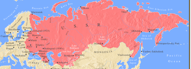 USSR map ThingLink