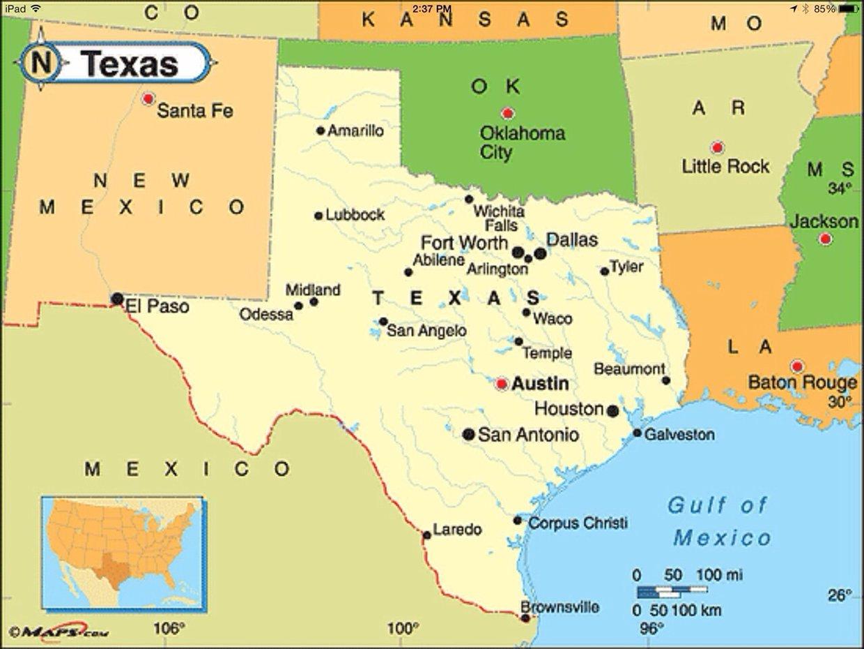 Political Map Texas