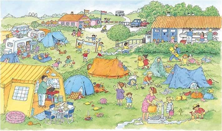 Liedje: op vakantie lijkt me fijn, Koekeloere: kamperen b...