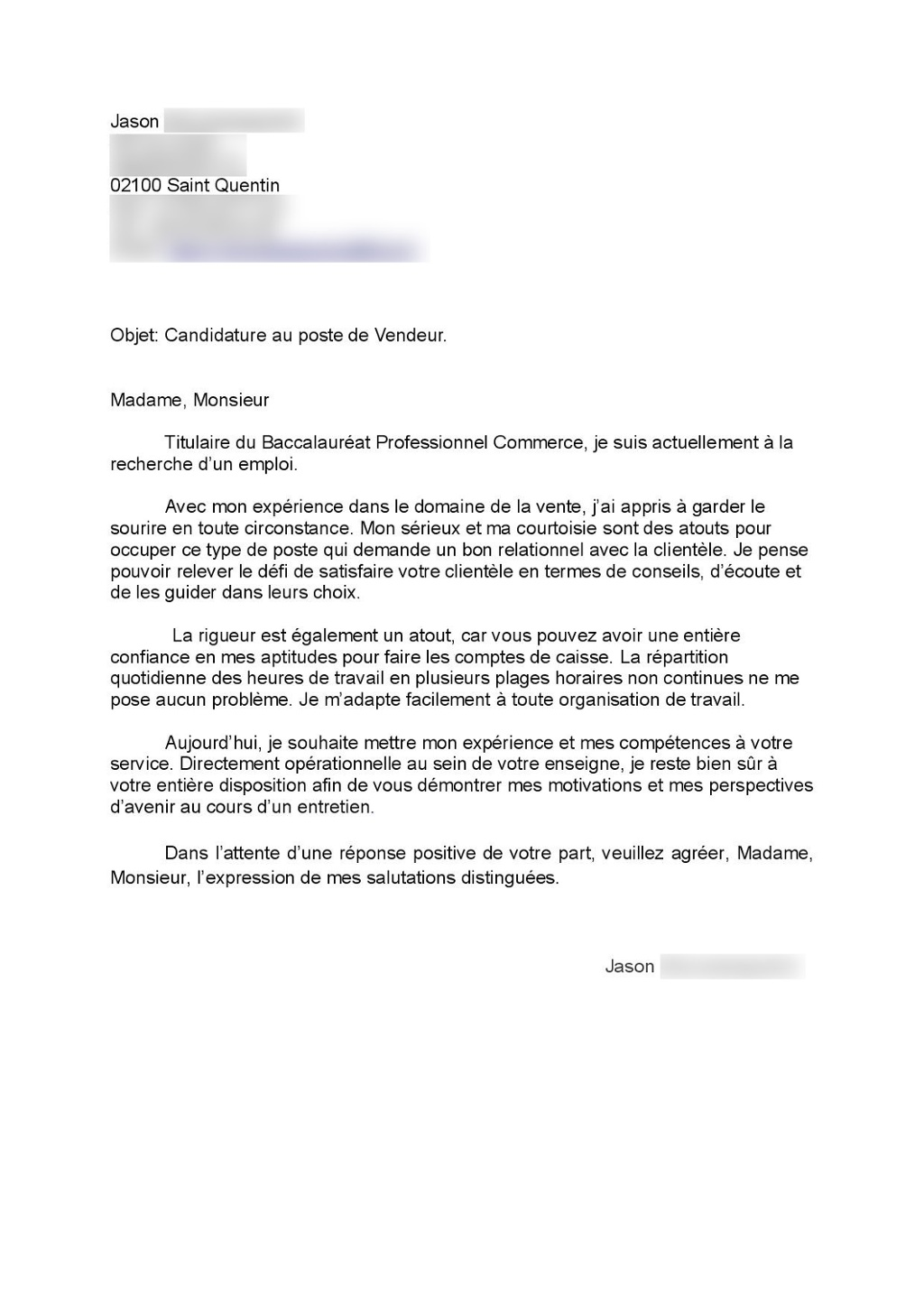 lettre de motivation auchan job  u00e9tudiant