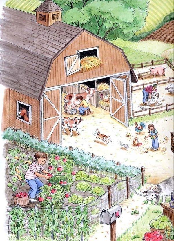 Interactieve vertelplaat Boerderij en tuinieren