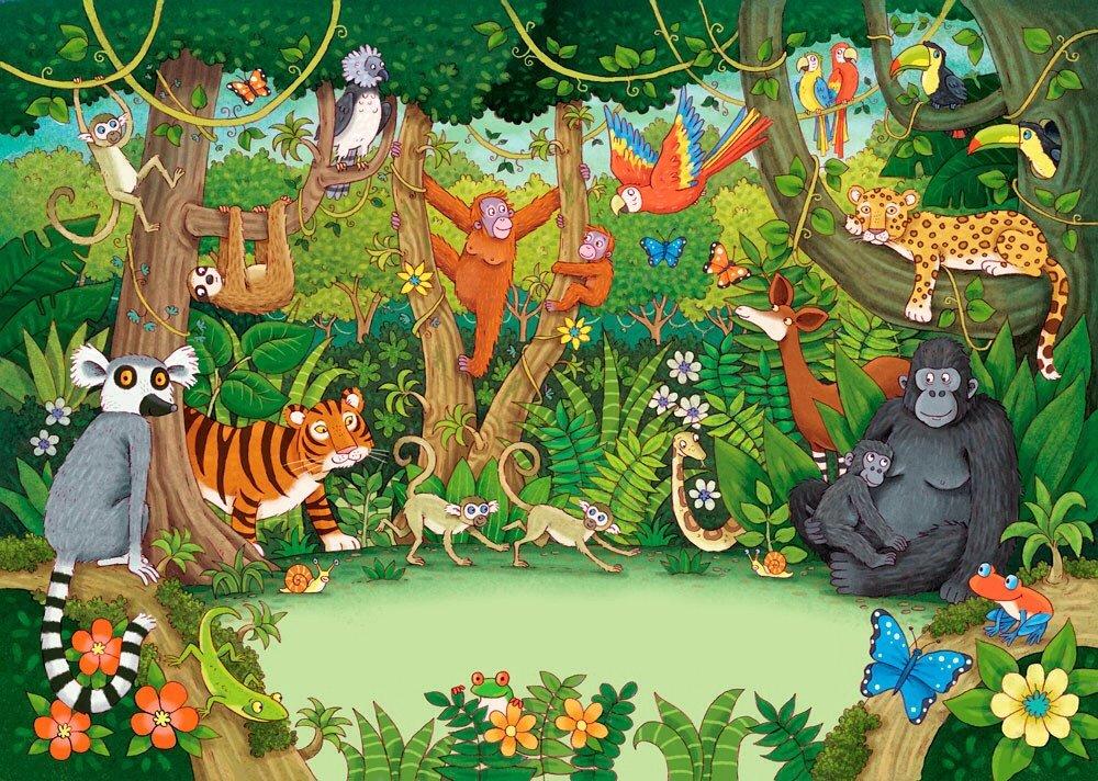 Interactieve praatplaat de Jungle. Filmpjes bij de dieren