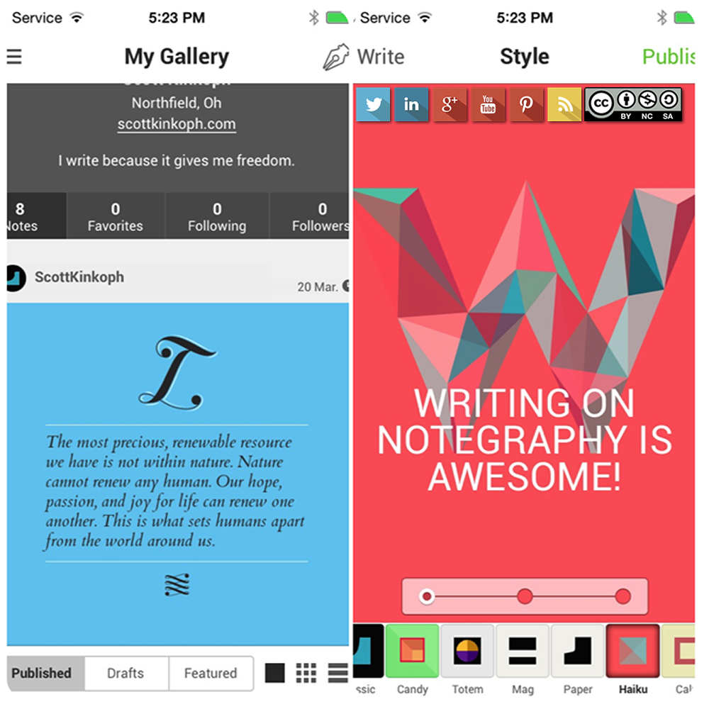 Notegraphy | write & share creatively