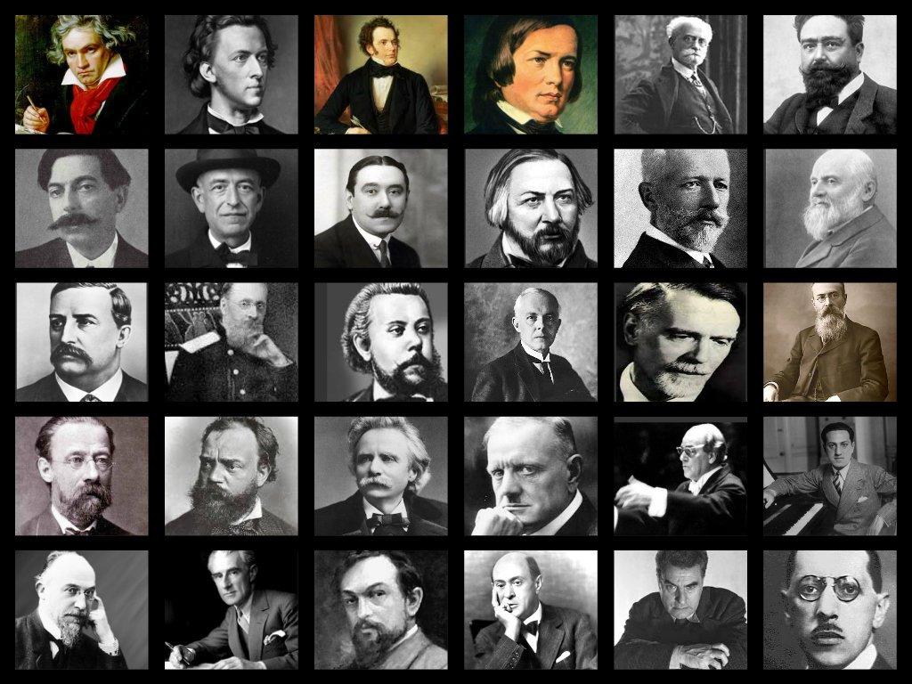 30 compositores de los siglos XIX y XX