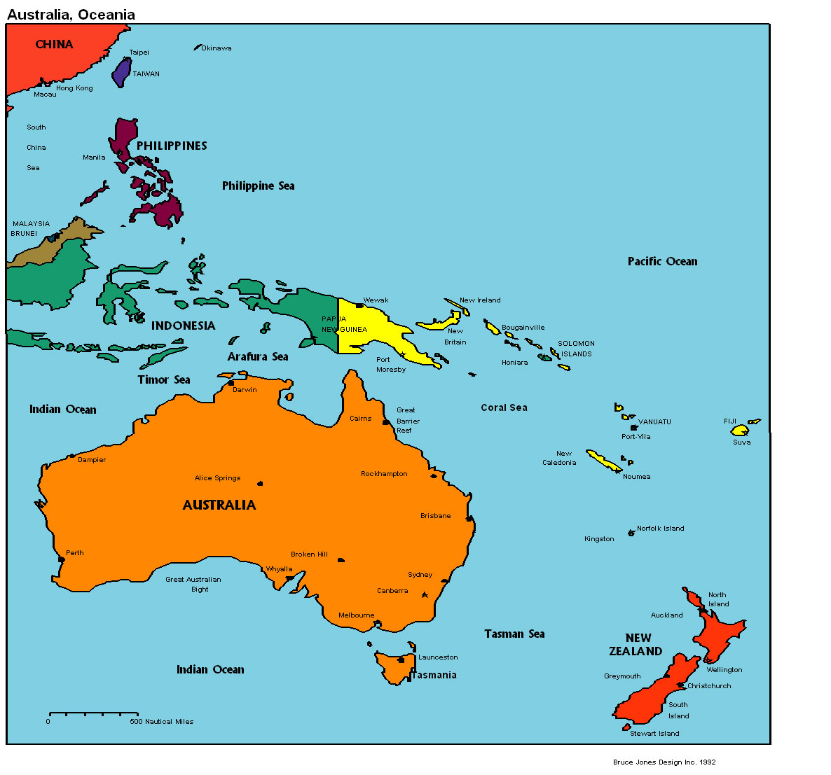 Interactive Map Of Australia.Australia And Oceania Interactive Map