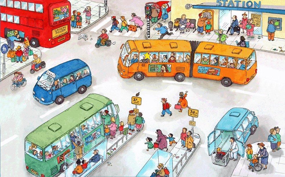 Praatplaat Het Busstation