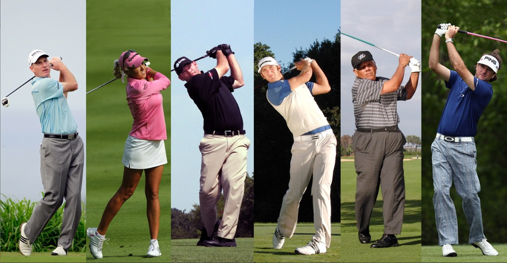 Various pros with unusual swings