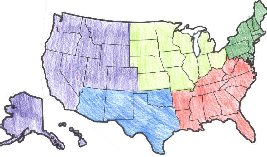 regional geography thinglink us southeast region blank map with southeast states map