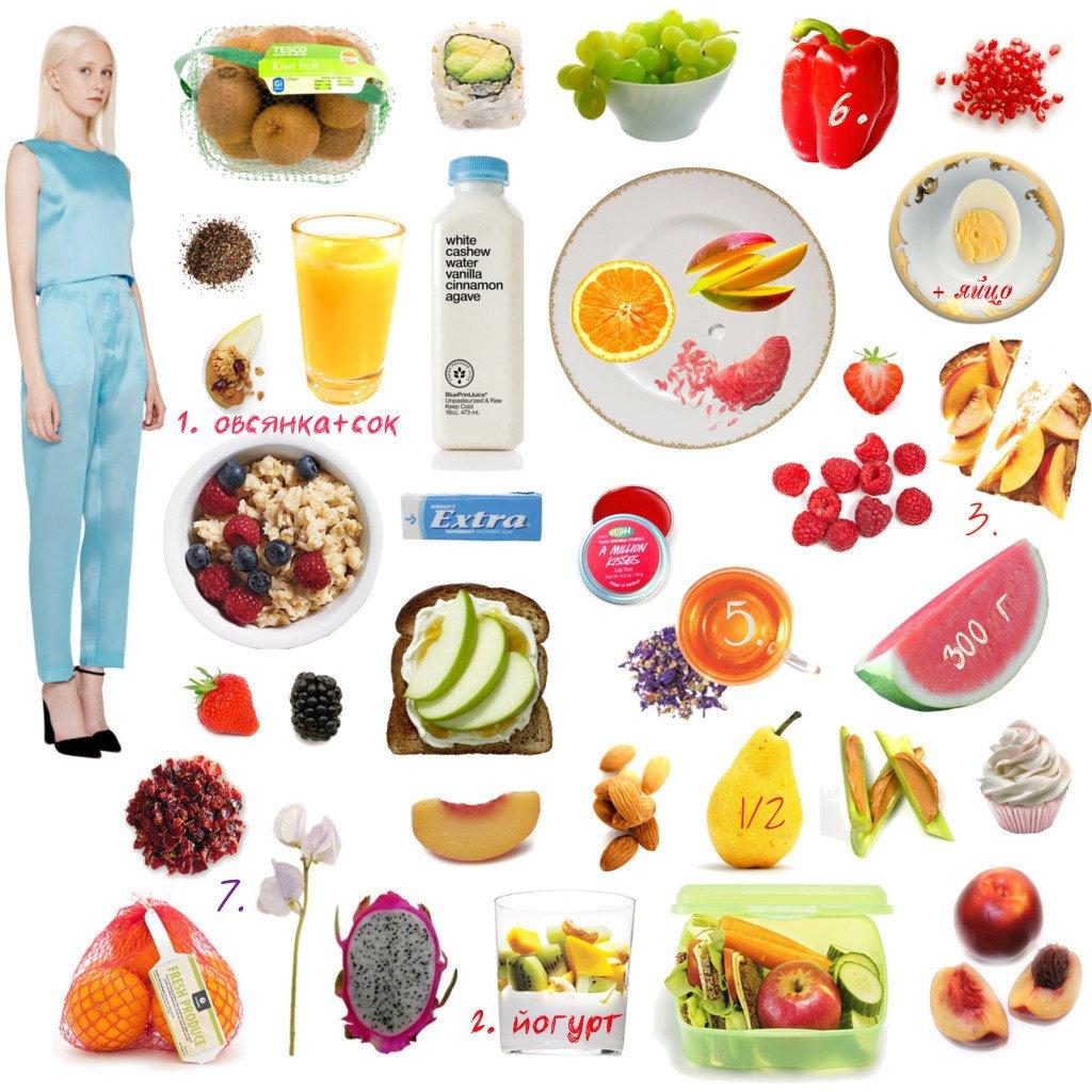диета 6 меню на один день