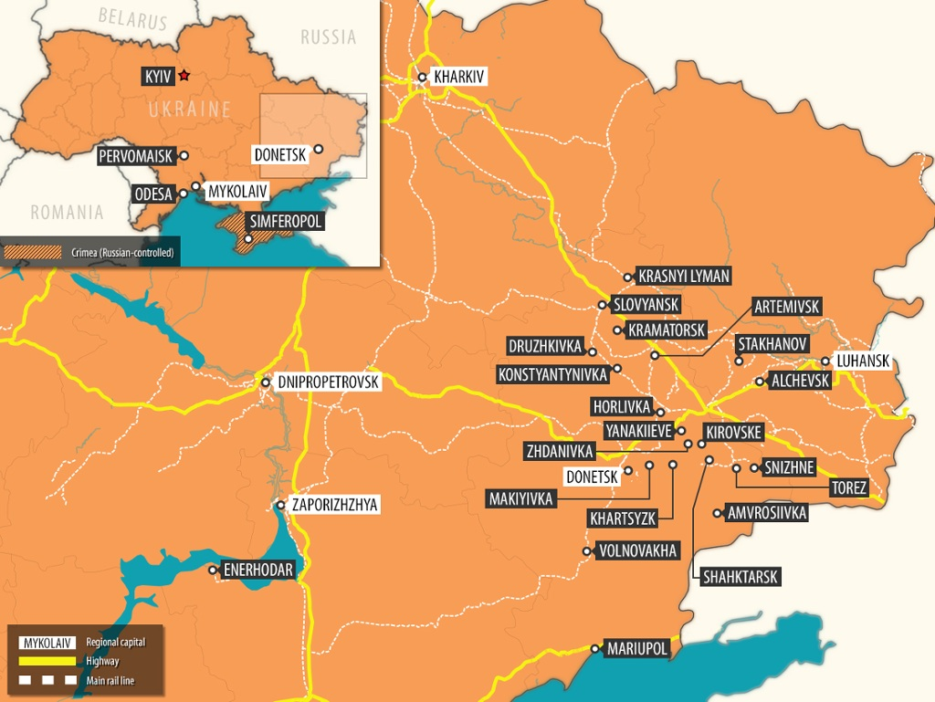 Interactive Map Fighting In East Ukraine