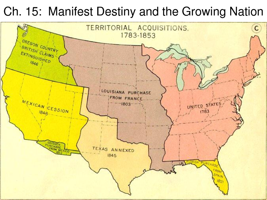 an introduction to the manifest destiny in relation to the united states Proponents of manifest destiny claimed that a continental united states would benefit from trade with asia, from the commercial advantages of san francisco bay and puget sound, and from lower tariffs sea-to-sea expansion would also safeguard democracy, give the nation room to grow, and preserve the essential.
