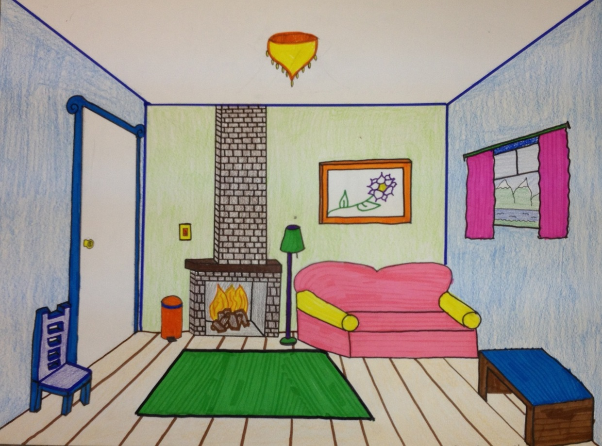 Bedroom drawing with color - Bedroom Drawing With Color 53