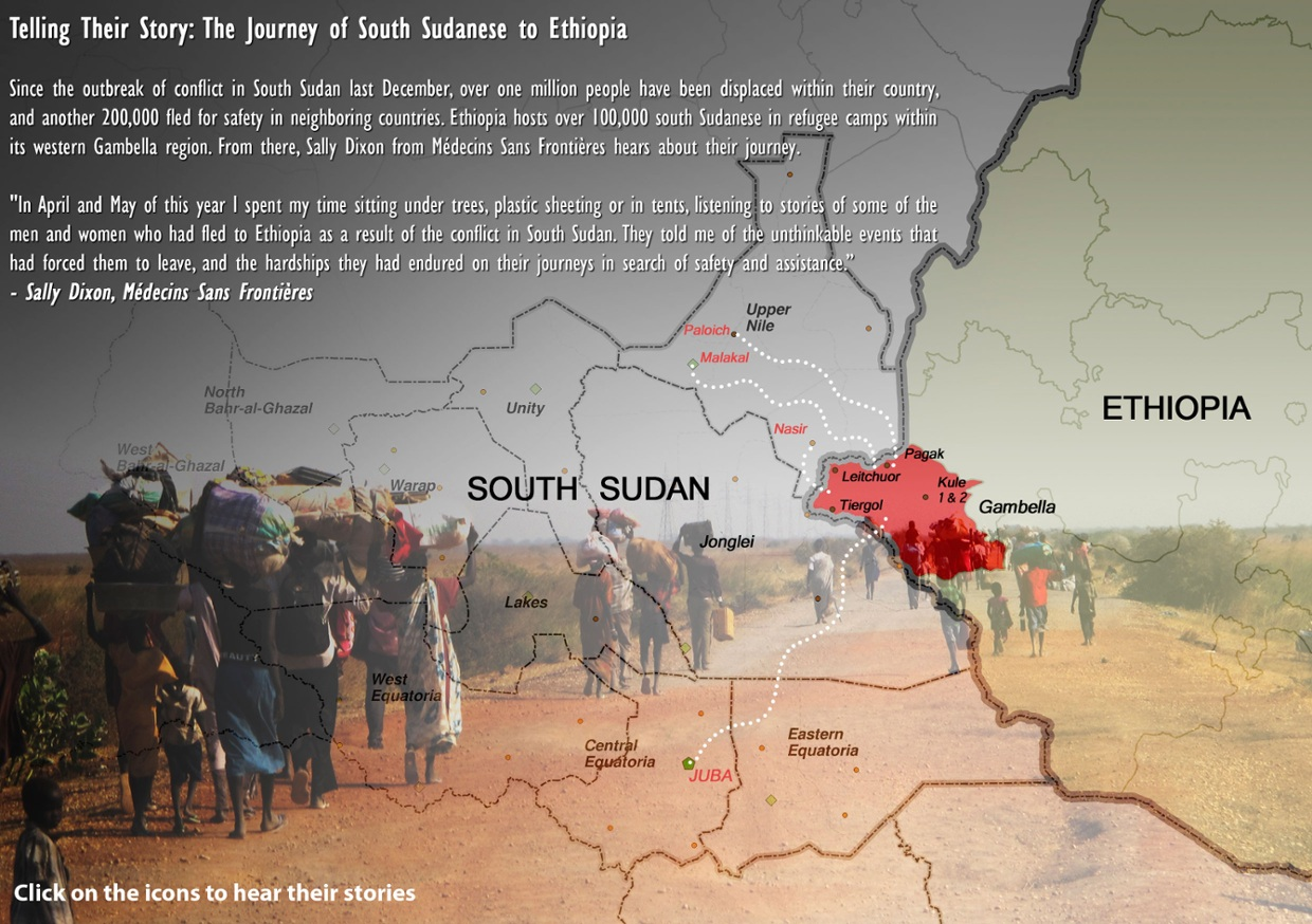 The Journey of South Sudanese to Ethiopia