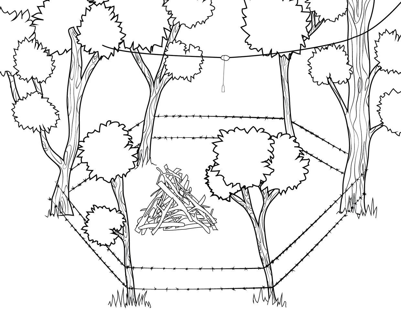Bear Hair Trap Corral Diagram