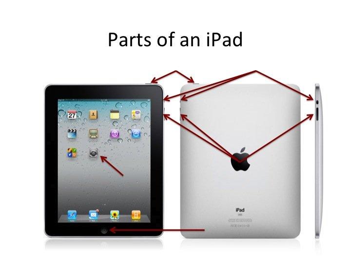 Parts of an iPad