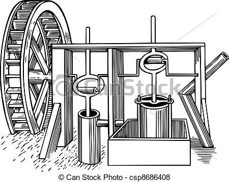 molino agua estructura  complemento del molino  rueda de