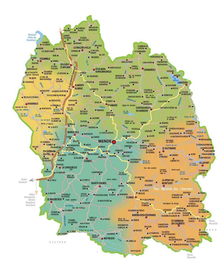 carte de la lozère Lozère Tourisme | Facebook