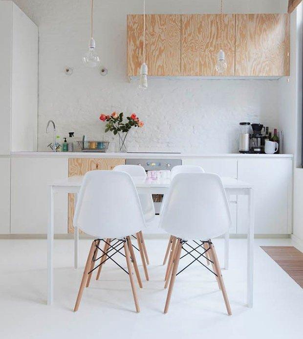 der wei e eames dsw stuhl ist ein wundersch ner esszimmer. Black Bedroom Furniture Sets. Home Design Ideas