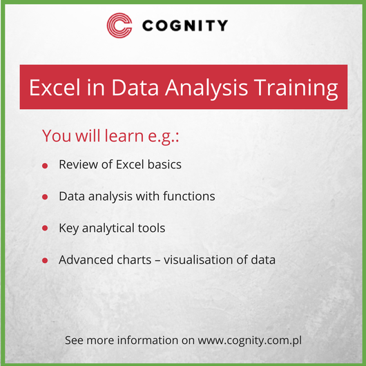 Excel In Data Analysis Training, Cognity