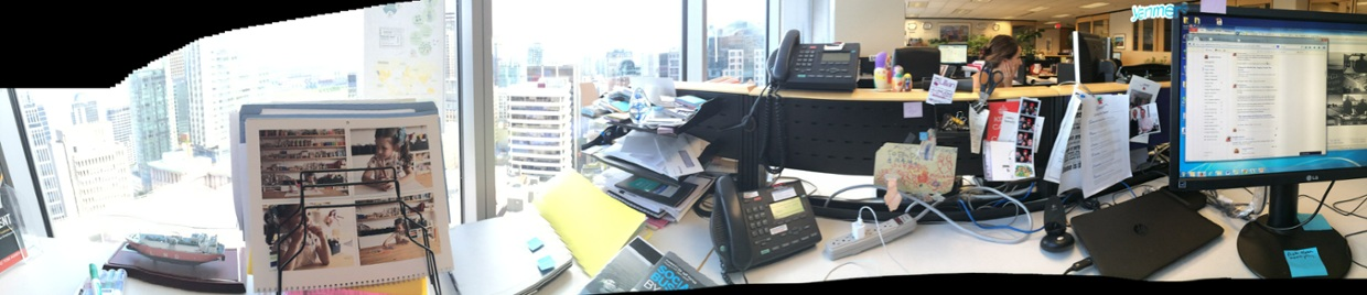 This much you know: my desk.