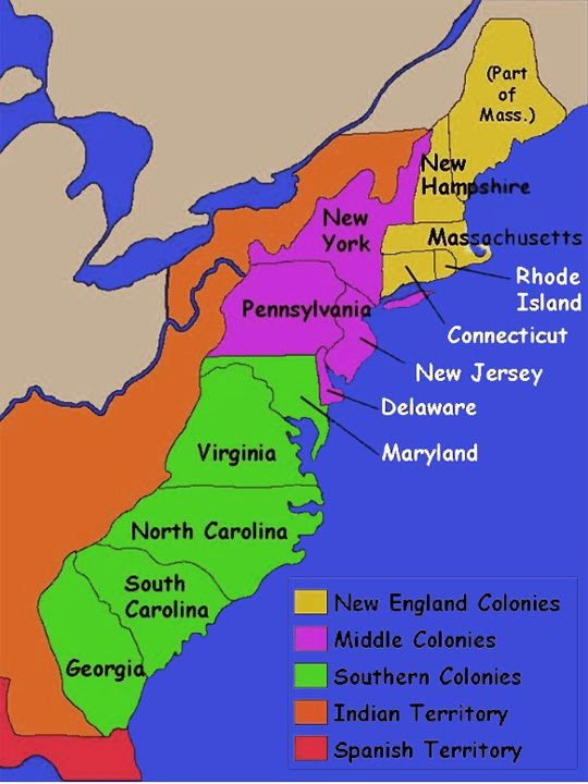 The Original 13 Colonies  ThingLink