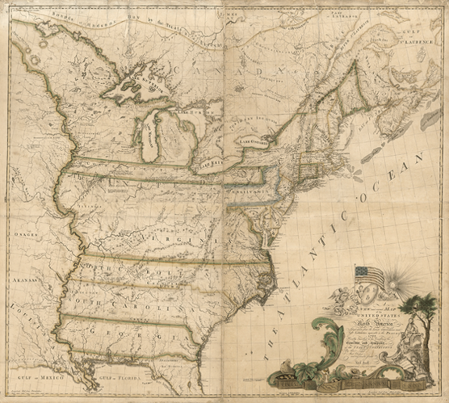 The First Map of America Drawn in 1784 | History | Smithsonian