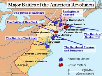 The Battle Of Saratoga Was Won By The Americans It Start - Battle of saratoga us maps