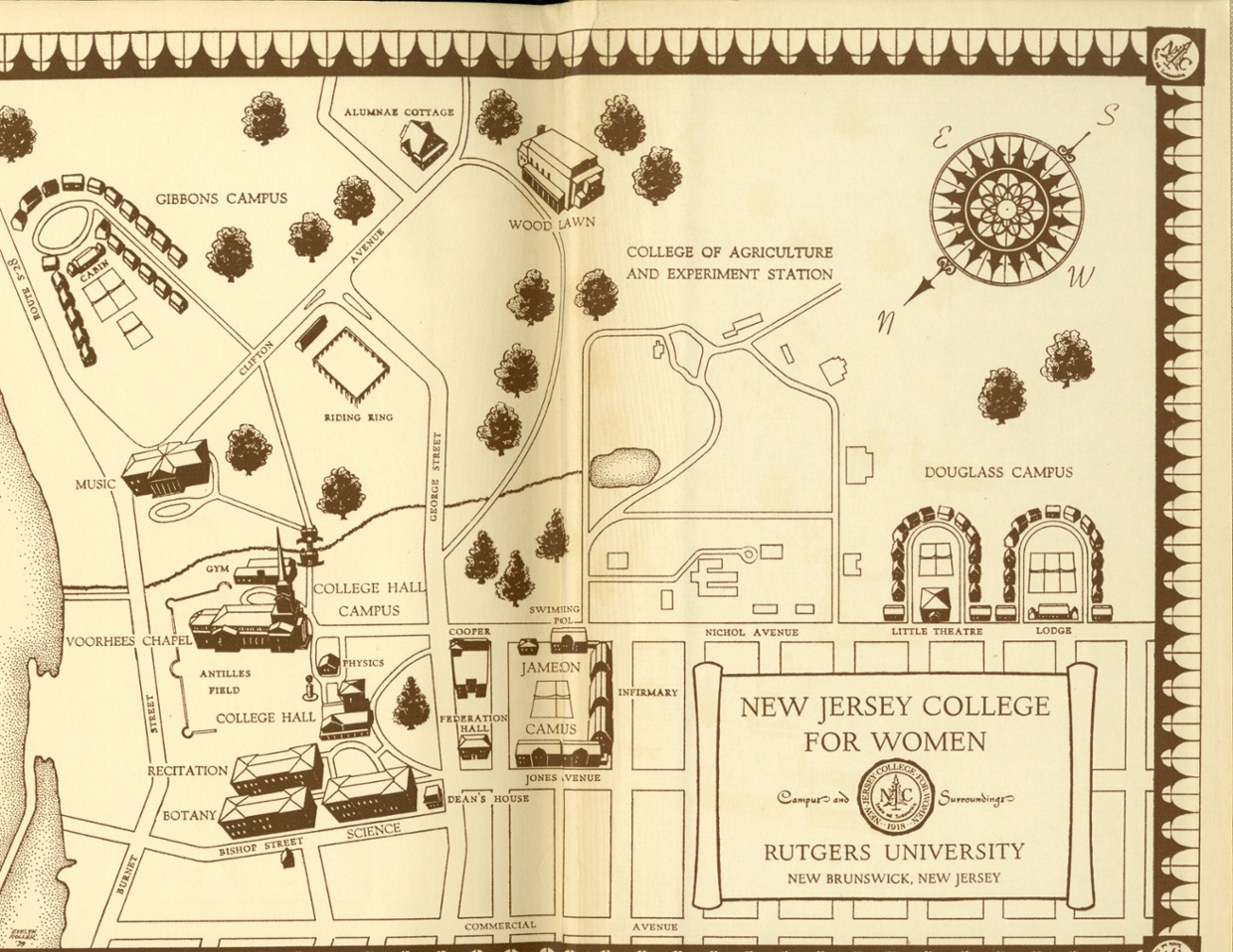 Interactive and Historical Map of Douglass Campus