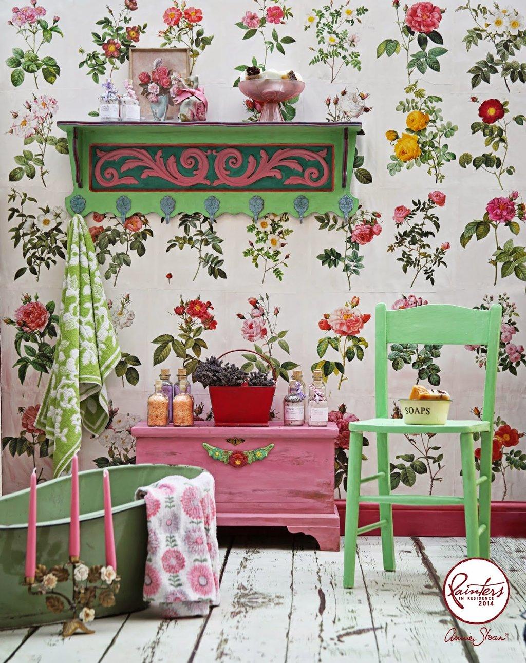 boho bathroom.  Inspiration Janice Issitt Boho Bathroom Annie Sloan