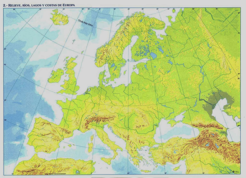 Mapa Mudo Europa Físico.Mapa De Europa Mudo