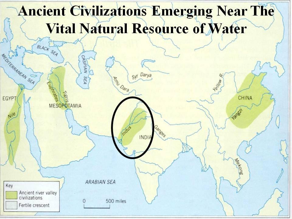 Indus river valley, China, Mesopotamia, Egypt