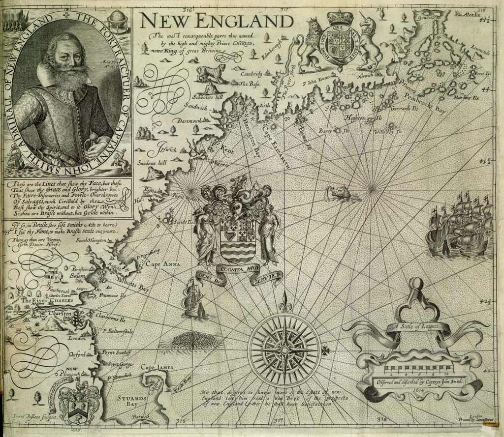 john smith coined the term new england on this 1616 map | history