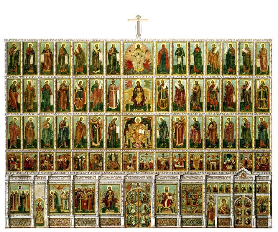 Богоматерь, Иисус Христос, Храмовая икона, Спас в силах,