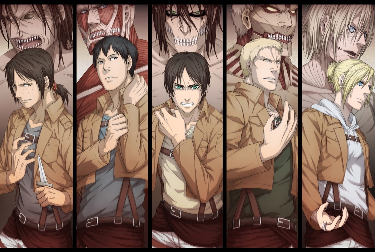 Aot Attack On Titan The Titan Shifters And Their Titans