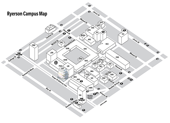 Ryerson Campus Map RHG: Growing from the ground up | Ryersonian.ca Ryerson Campus Map