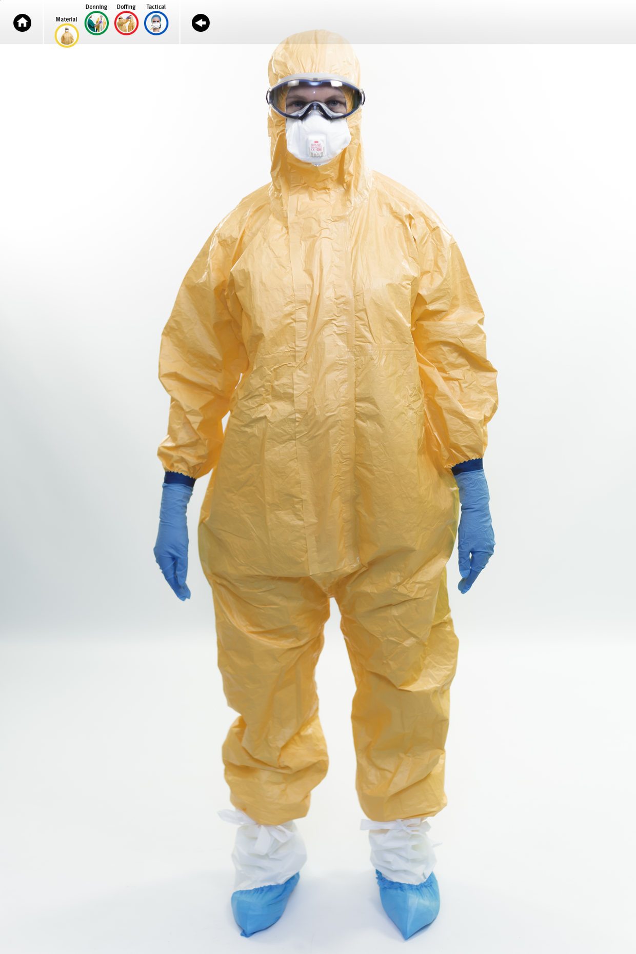Visuals from ECDC tutorial on the safe use of PPE: MATERIALS