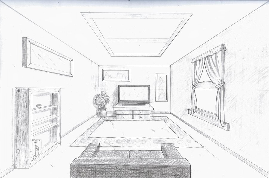 1pt perspective interior thinglink. Black Bedroom Furniture Sets. Home Design Ideas