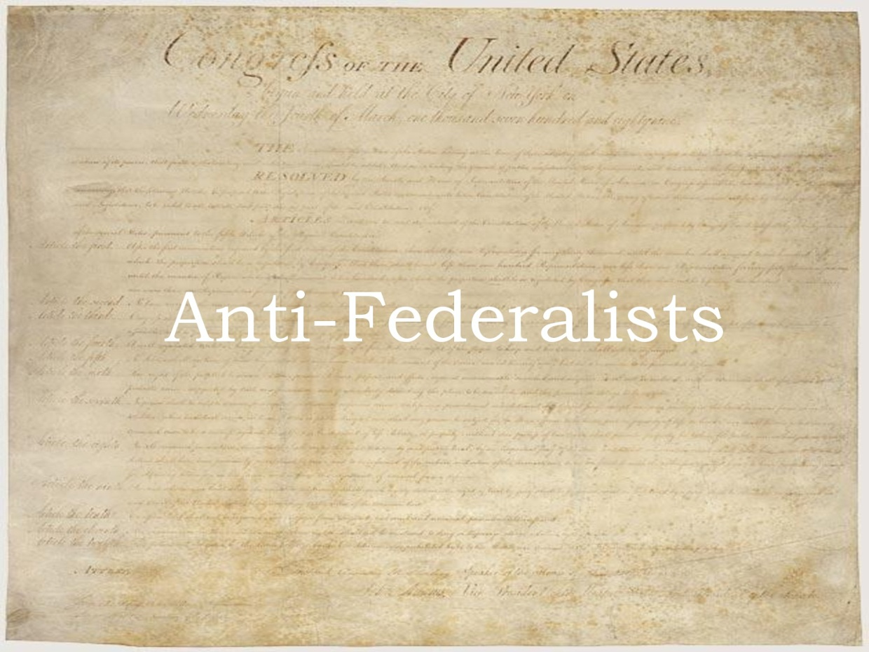 anti federalist thinglink