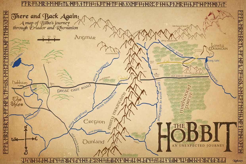 The Map Of The Hobbit The Map of the Hobbit
