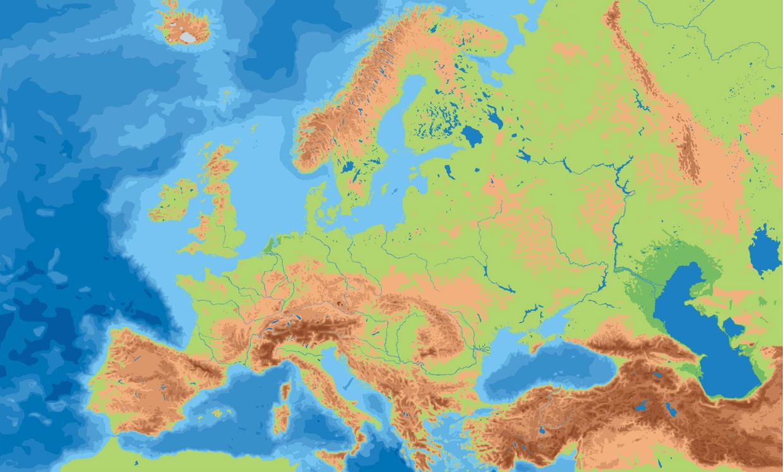 Mapa Fisic Espanya Mut.Mapa Fisic Europa Mut Verd Clar