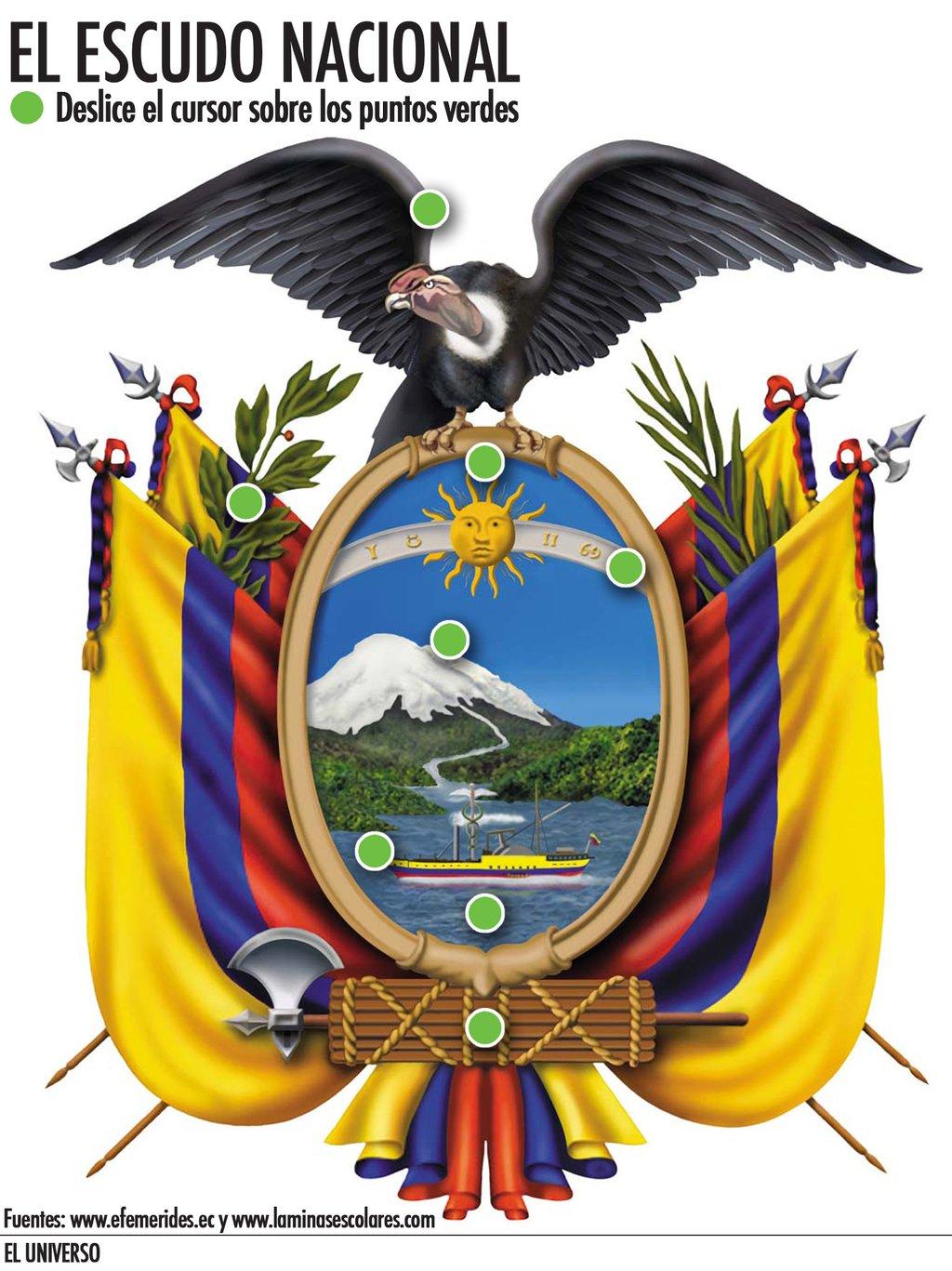 escudo de ecuador en blanco y negro