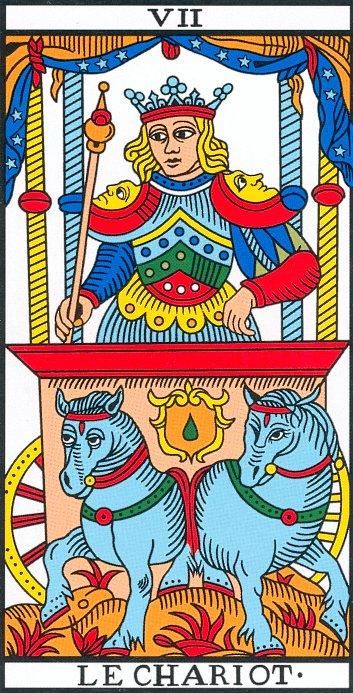 Vincent Beckers présente le Chariot du tarot.