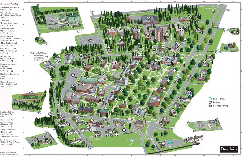 Haven For Hope Campus Map.Nine Department Relocations To Remap Campus The Bowdoin Orient